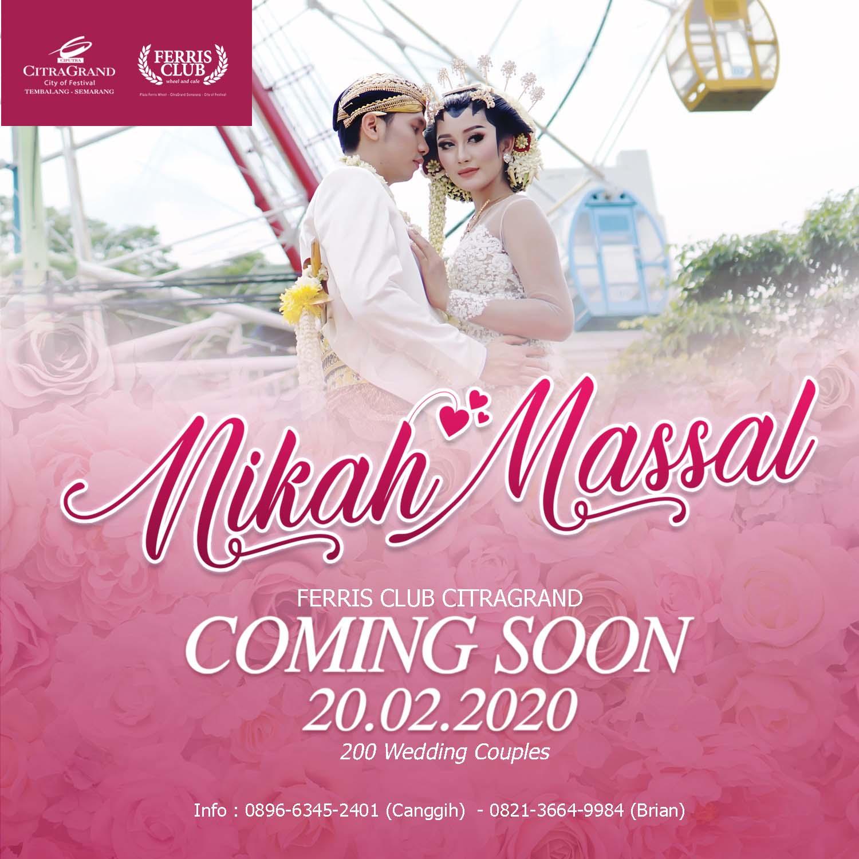 Nikah Massal Ferris Club Citragrand Semarang 2020 - Coming Soon